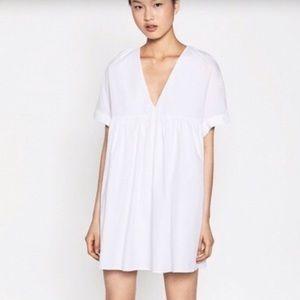 Zara Trafaluc white dress/romper, size small